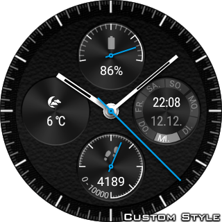 Screenshot for Wear Chronograph Watch Face in United States Play Store
