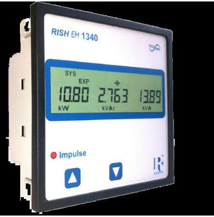 Elnätsanalysator, 96x96 mm, class 1, LCD, puls, RS-485