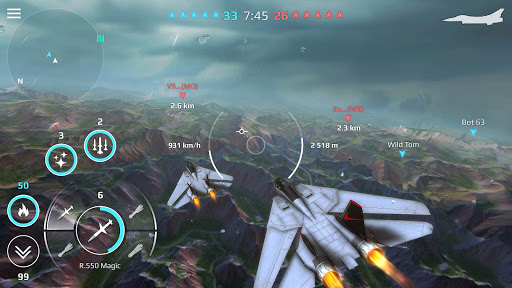 Sky Combat: war planes online simulator PVP screenshots 21