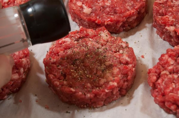 Before cooking sprinkle both sides of the burgers with a bit of freshly ground...