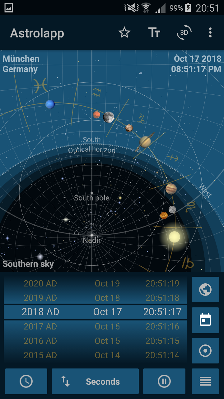 Astrolapp Live Planets and Sky Map Screenshot 2