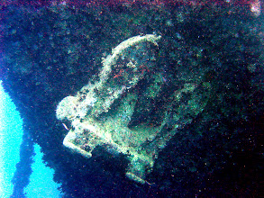 Photo: This is the anchor on the SS Thistlegorm in Eqypt