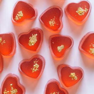 Real Strawberry and Sparkling Rosé Gummy Hearts.