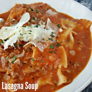 Quick Lasagna Soup.