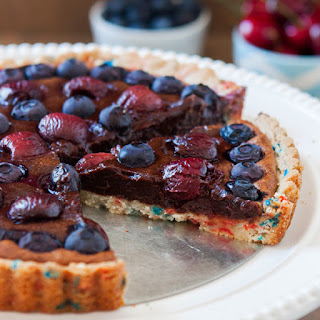 Shortbread Crust for Blueberry & Cherry Brownie Fireworks Tart