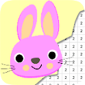 Bunny Color By Number - Pixel Art icon