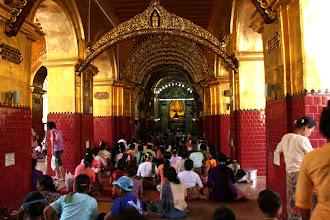Photo: Year 2 Day 55 - Women Praying - They Forbidden Entrance to the Buddha in Mahamuni Paya