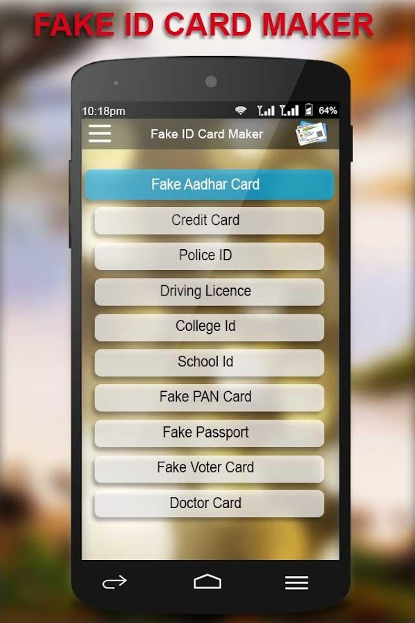 Fake ID Card Generator - Android Apps on Google Play
