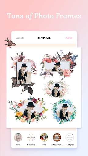 Screenshot for Photo Frame - collage, template, photo editor in United States Play Store