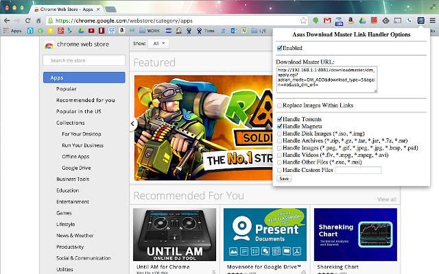 Asus Download Master Link Handler