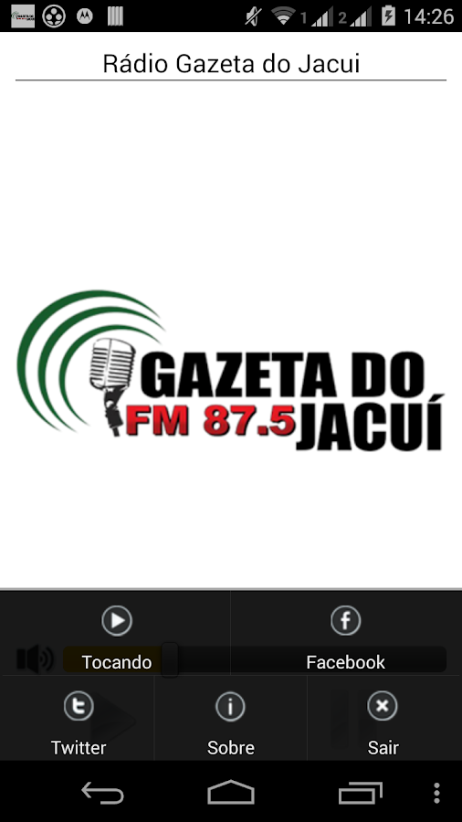 Rádio Gazeta do Jacui: captura de tela