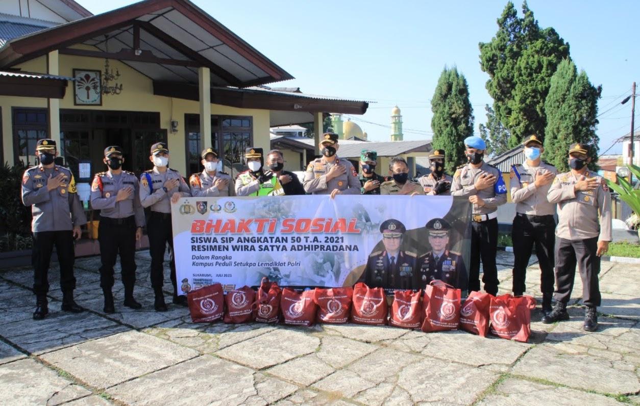 Bhayangkara Untuk Negeri, Setukpa Lemdiklat Polri Bagikan 1000 Paket Sembako di Sukabumi