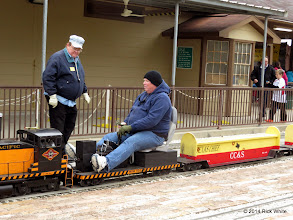 Photo: Pete Greene with engineer Rich Businger with an empty station at 12:24 PM    HALS Public Run Day 2014-1115 RPW