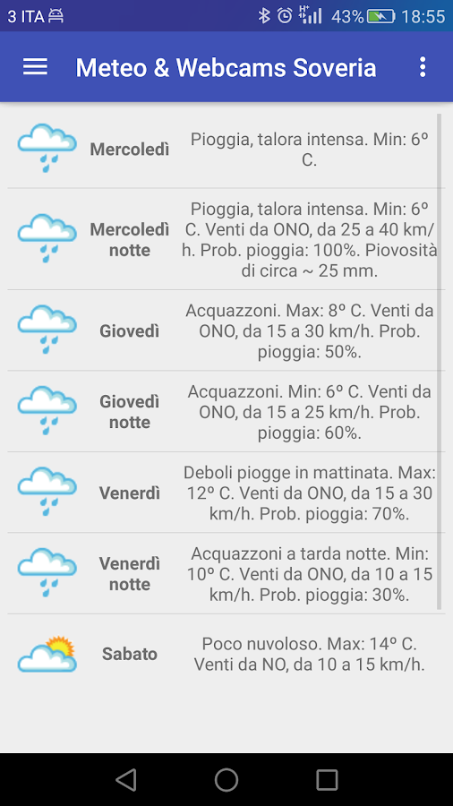 Meteo & Webcams Soveria- screenshot