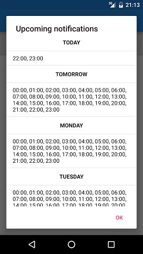 calendario notifiche