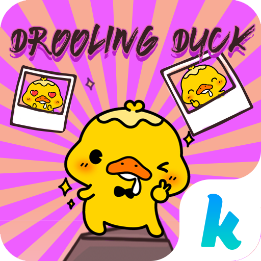 Kika Drooling Duck Sticker Icon