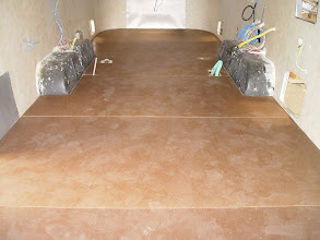Photo: A smooth clean surface that is now ready for the Marmoleum flooring to be installed.