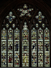 Photo: Stained glass window West front Hereford Cathedral - 1902