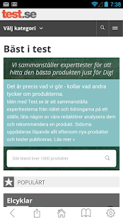 Test.se - bäst i test- screenshot thumbnail
