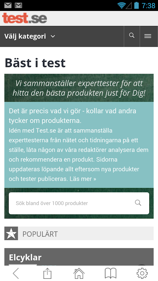Test.se - bäst i test- screenshot