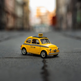 NYC TAXI by Baltă Mihai - Artistic Objects Toys ( bucharest, www.mihaibalta.com, street, taxi, yellow, fiat, model, romania, new york )