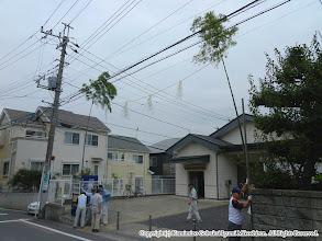 Photo: 【平成24年(2012) 太鼓開き】  設置された道切り。