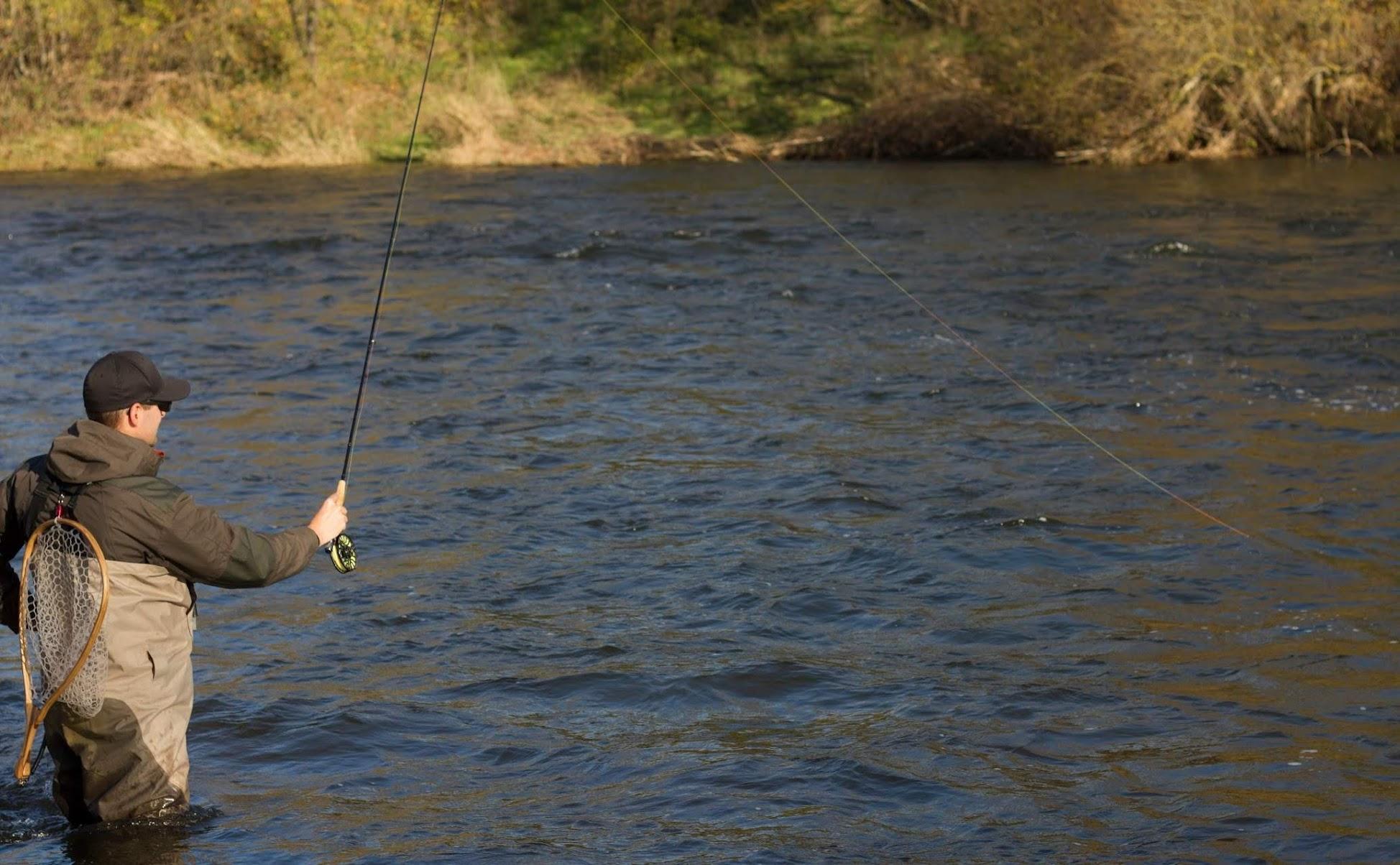 Fil De Peche Rose indicateur bicolore blanc / noir ( 8 mètres ) pour pêche en nymphe au fil