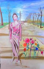 Photo: Les boréades ou alphise et borée (120*80 cm) huile sur toile 2002