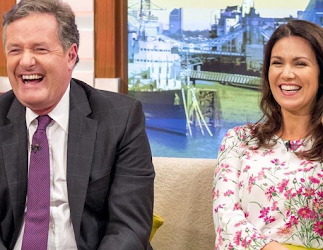Soccer Aid: Susanna Reid and Piers Morgan clashing at charity football match