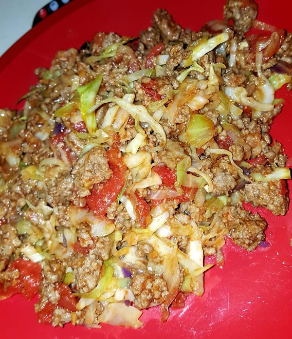 Add ground beef ,taco seasoning, diced Tomatoes and some water 1/4 cup and stir...
