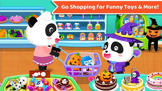 Baby Panda's Supermarket-Halloween Party Shopping - náhled