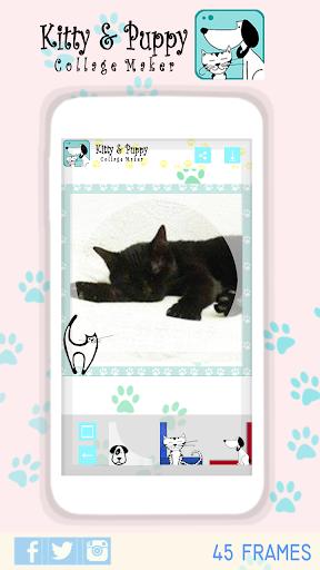 玩免費攝影APP|下載フォトコラージュメーカー- キティ&子犬 app不用錢|硬是要APP