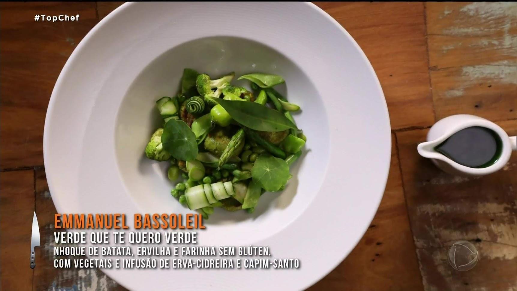 Prato verde que te quero verde no desafio de eliminação do Top Chef