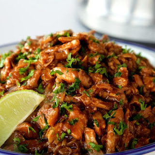 Indonesian Shredded Barbecue Chicken.