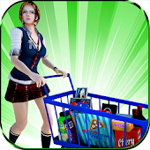 Super Market Cashier Girl Sim: Cash Register Games