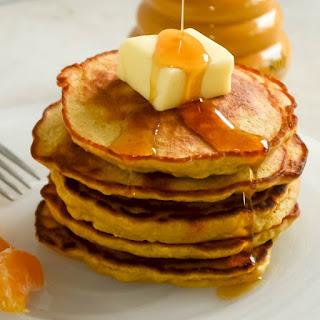Orange Oatmeal Pancakes.