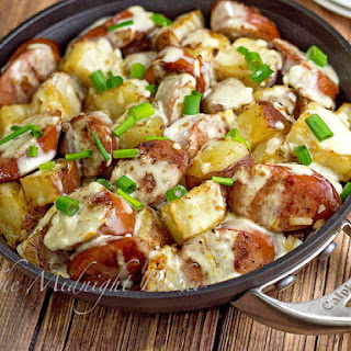 Kielbasa & Potatoes in Cheese Sauce