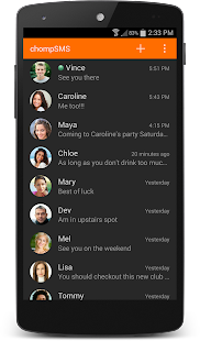 chomp SMS - screenshot thumbnail