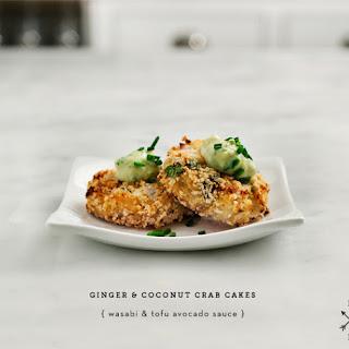 Crab Cakes with Avocado-Wasabi