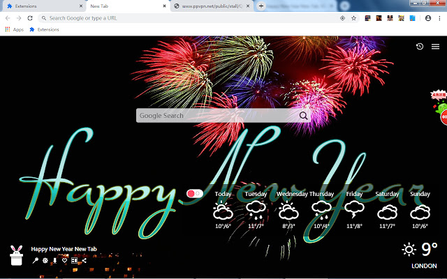 Happy New Year New Tab, Wallpapers HD