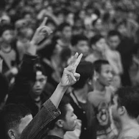 Peace Crowd by Irfan Maulana - Abstract Fine Art