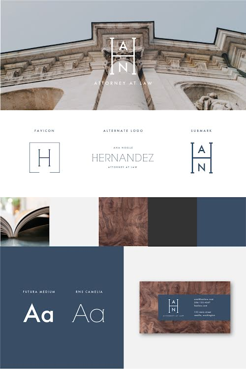 Hernandez Brand Board - Brand Board Template