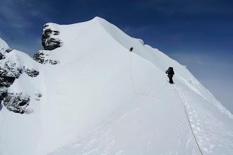 Photo: Climbing up.