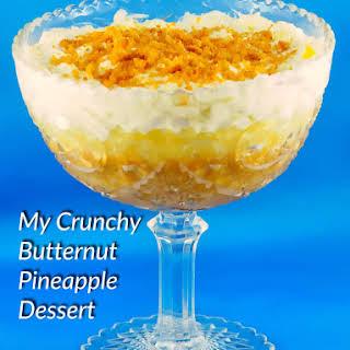 My Crunchy Butternut Pineapple Dessert.