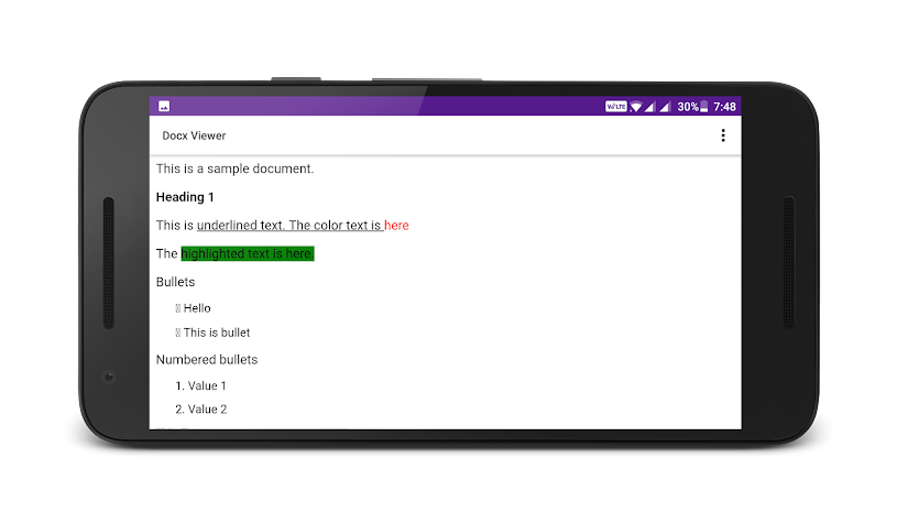 Docx Reader Screenshot