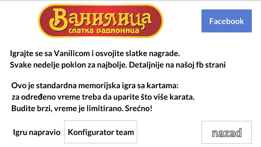 android Vanilica - nagradna igra Screenshot 7