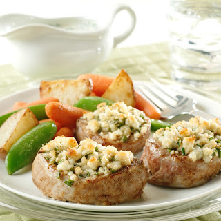 Pork Medallions With Blue Cheese-Chive Stuffing.
