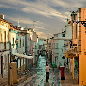 Lagos by Steve Weston - Landscapes Travel ( coble, street, town, portugal, morning )