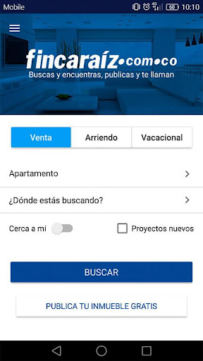 FincaRaiz - real estate screenshot
