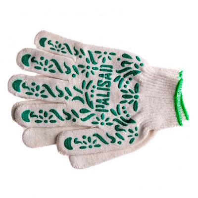"""Перчатки трикотажные Palisad ПВХ-покрытие """"Летний сад"""", 10 класс,"""